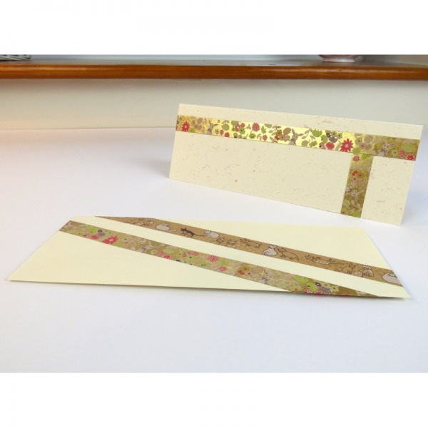 Metallic washi tape on cards