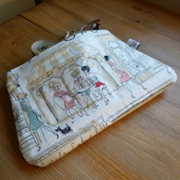 Paris Scene Zip Bag